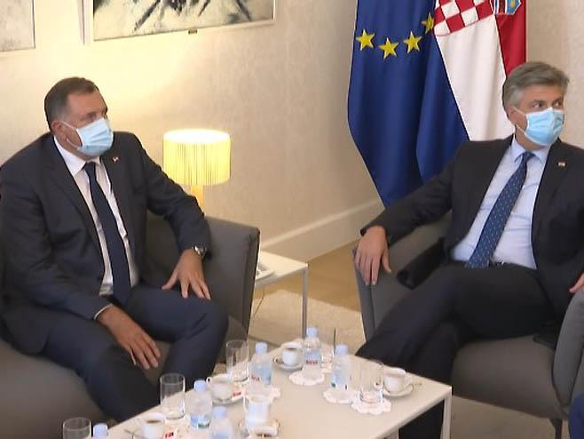 Dodik - Plenković, Foto: RTRS