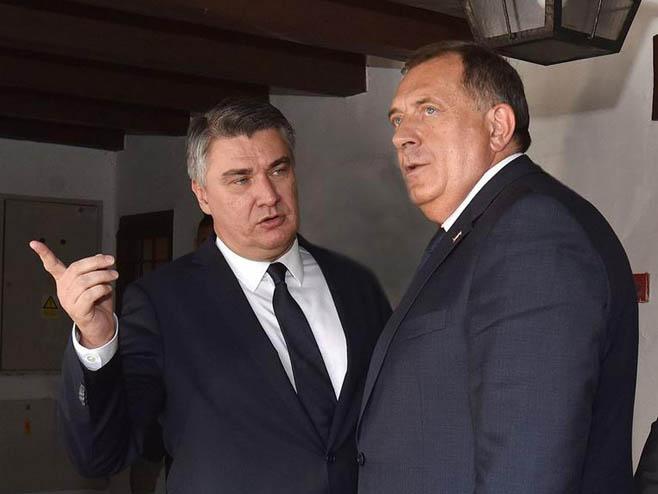 Milorad Dodik, Zoran Milanović (foto:Ured predsjednika)