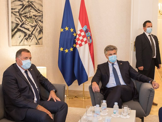Dodik - Plenković (Foto: SRNA)
