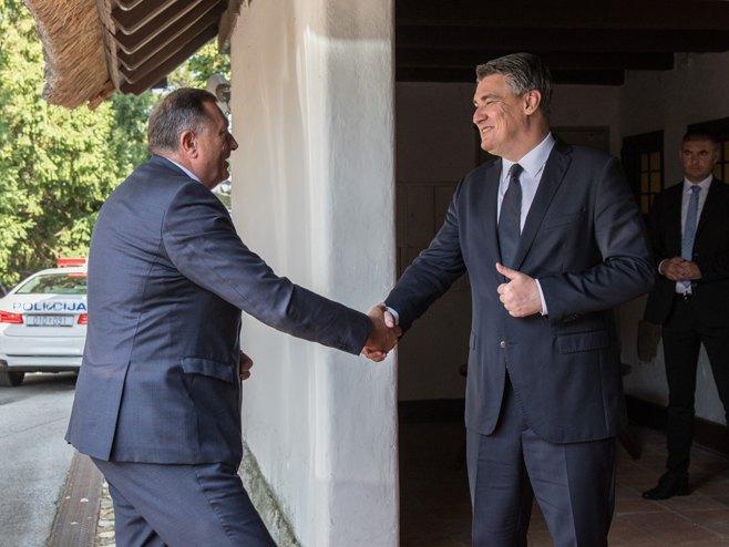 Milorad Dodik i Zoran Milanović (Foto: SRNA)