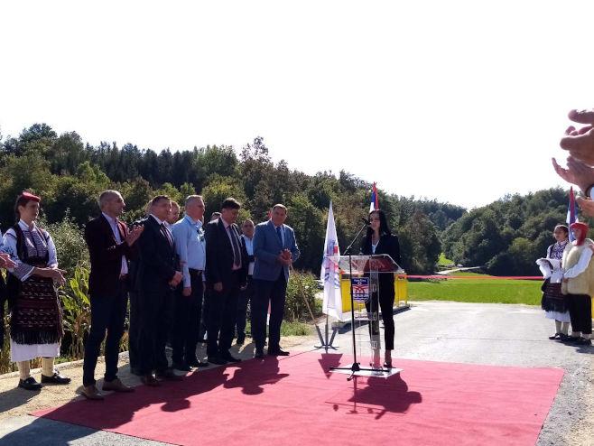 Dodik u Novom Gradu (Foto: RTRS)