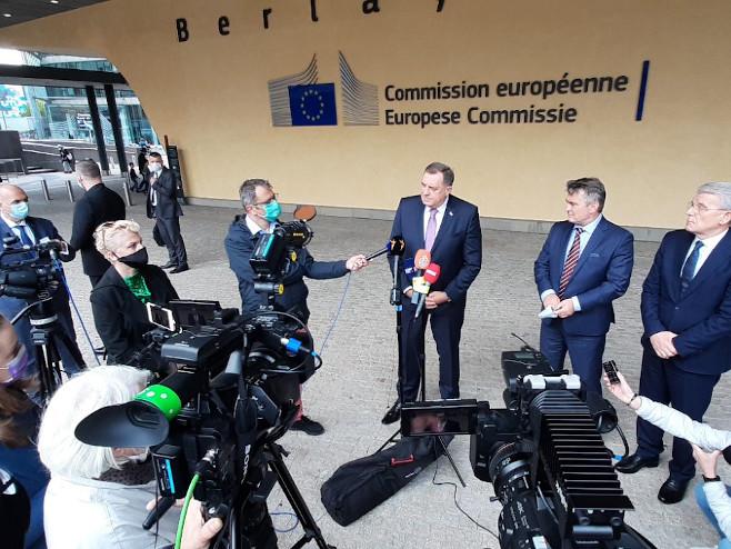 Brisel: Dodik - Konferencija za novinare (Foto: RTRS)