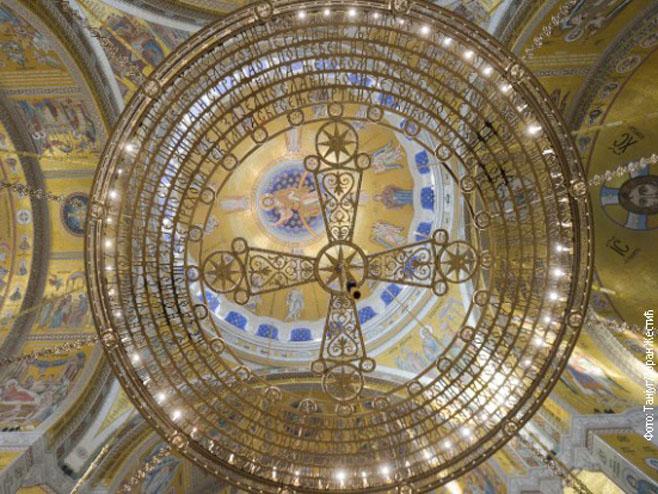 Mozaik u Hramu Svetog Save u Beogradu (foto: Tanjug)