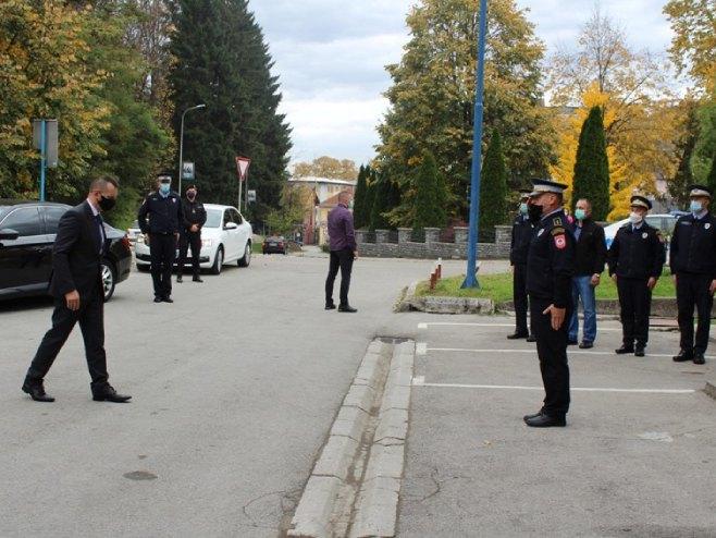 Dragan Lukač u Novom Gradu (foto: SRNA)