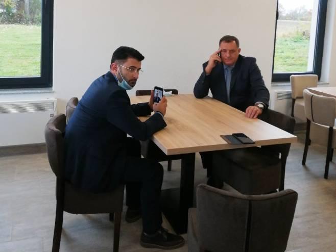 Dodik razgovarao sa Lavrovim (Foto: RTRS)
