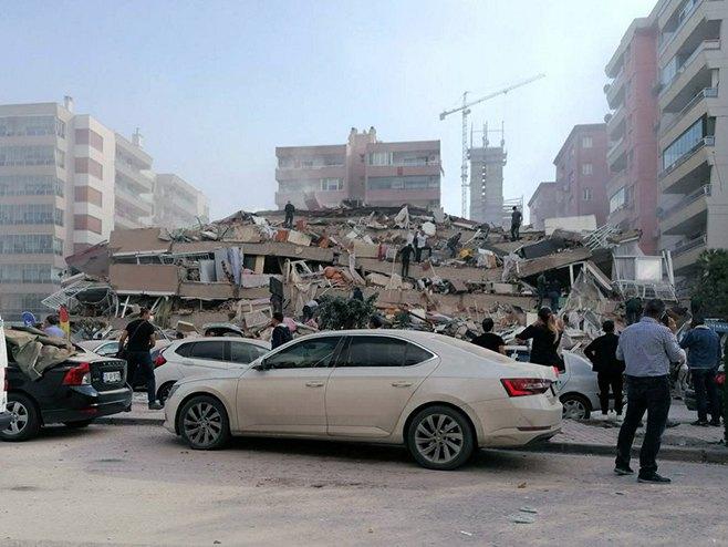 Земљотрес у Турској (Фото: DHA via AP)
