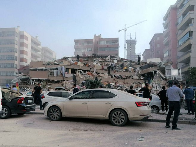 Zemljotres u Turskoj (Foto: DHA via AP)
