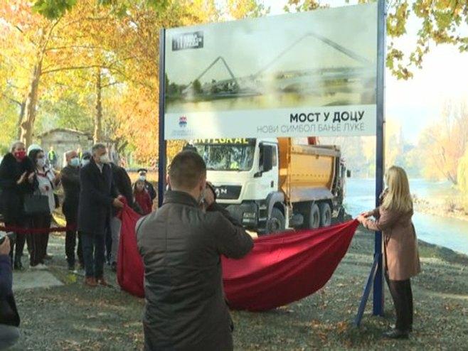 Цвијановић и Радојичић озваничили почетак изградње новог моста на Врбасу (Фото: РТРС)