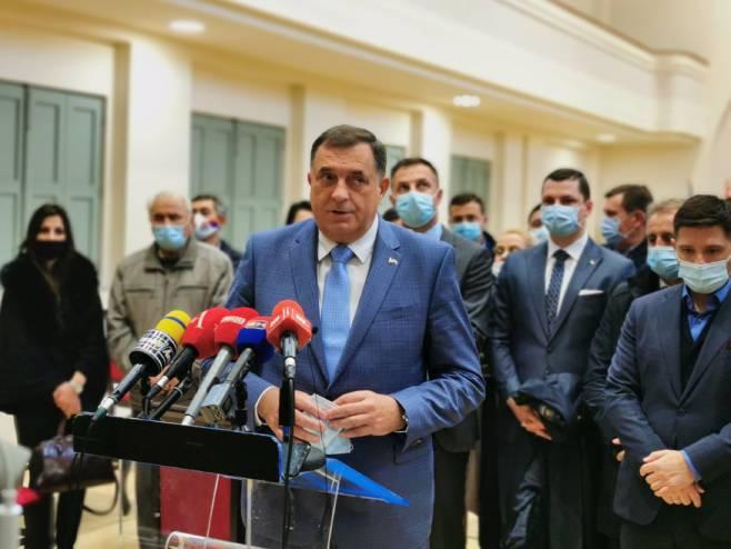 Милорад Додик у Бијељини (фото: СРНА)