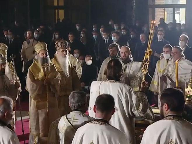 Liturgija za upokojenog patrijarha Irineja (Foto: Screenshot )