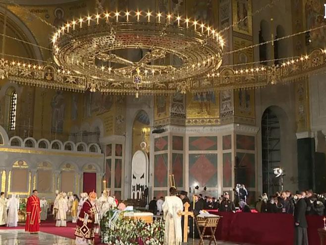 Liturgija za upokojenog Patrijarha (foto: Screenshot )