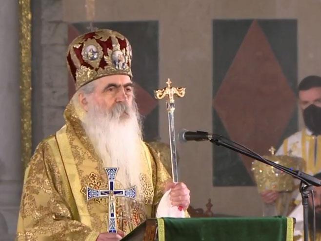 Hram Svetog Save - liturgija (foto: Screenshot )
