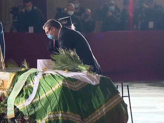 Hram Svetog Save: Aleksandar Vučić kod odra (Foto: Screenshot )
