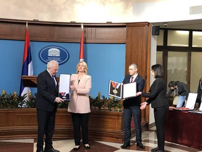Predsjednica Srpske odlikovala Ivancova 2019. godine