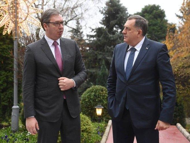 Aleksandar Vučić i Milorad Dodik (Foto: Srna)