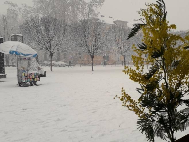Бањалука под снијегом (Фото: РТРС)