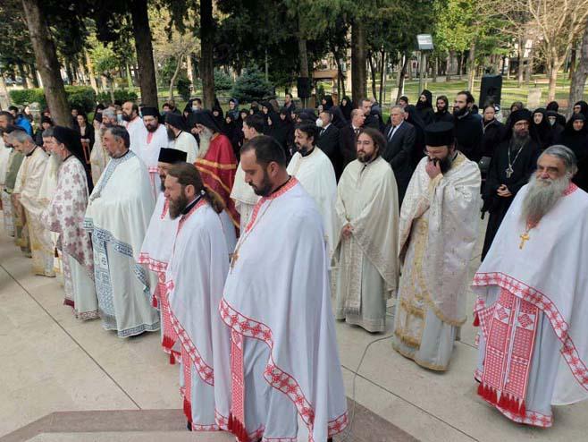 Trebinje - opijelo episkopu zahumsko-hercegovačkom i primorskom Atanasiju (Foto: SRNA)