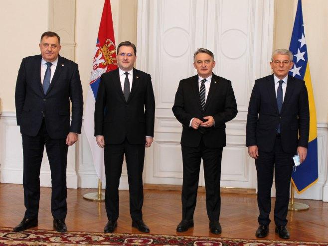 Селаковић, Додик, Комшић и Џаверовић (фото: mfa.gov.rs)