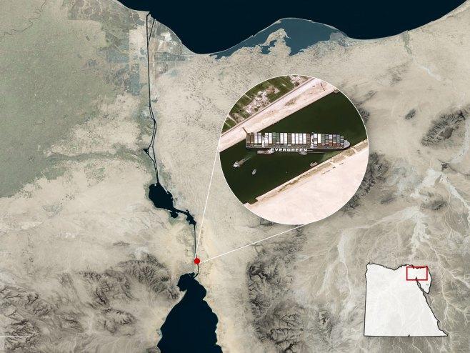 Satelitski snimak Sueckog kanala (foto: CNES / Airbus By Scott Reinhard)