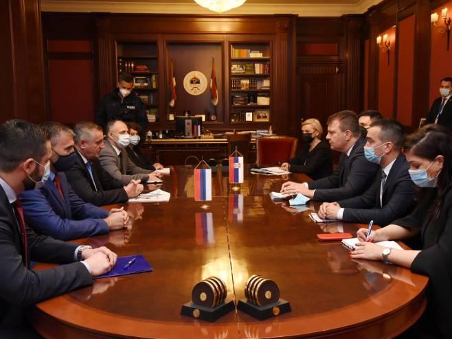 Sastanak Višković - Mirović - Foto: RTRS