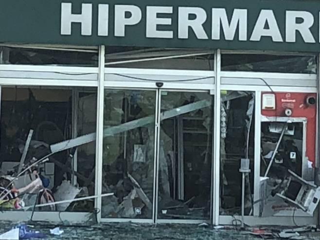 Експлозија у маркету Бинго у Модричи (Фото РТРС)