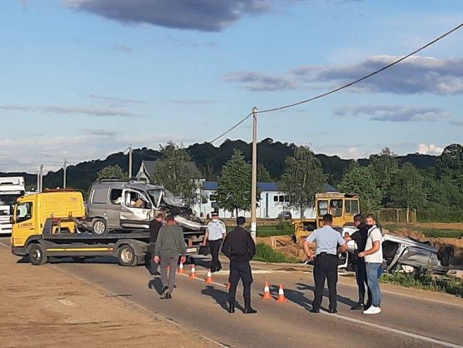Veliko Blaško - saobraćajna nezgoda (Foto: RTRS)