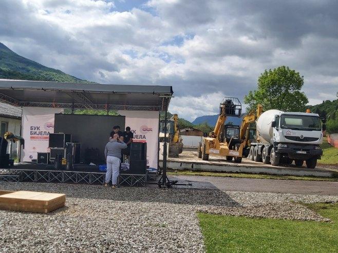 """Полагање камена темељца за изградњу ХЕ """"Бук Бијела"""""""