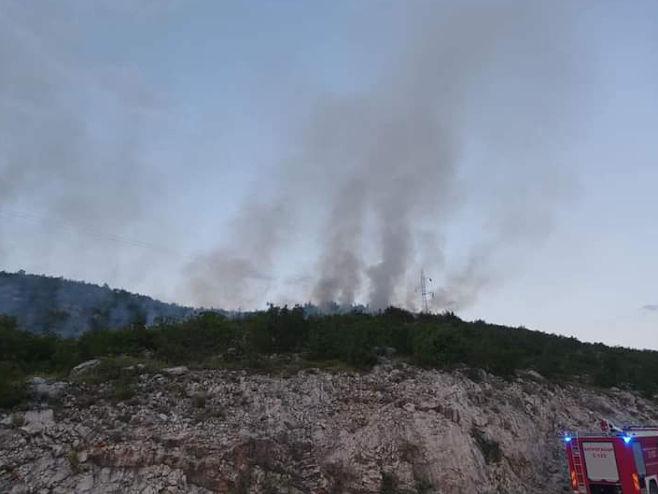 Trebinje - požar - Foto: SRNA
