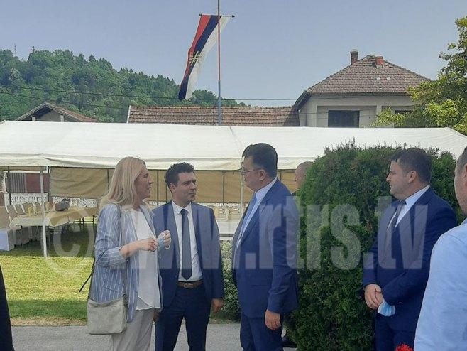 Предсједница Цвијановић у Костајници (фото: РТРС)