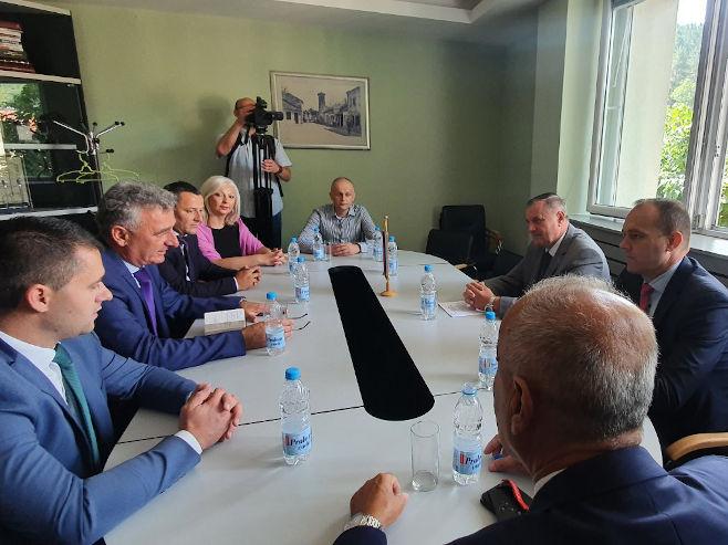 Višković u Nevesinju - Foto: SRNA
