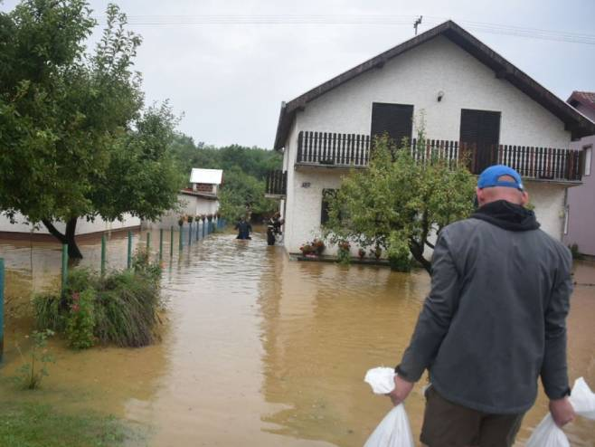 Poplave u Slavoniji (foto: TV Našice)