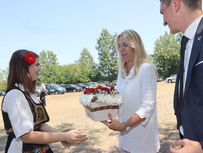 Предсједница Цвијановић у Пелагићеву (Фото: РТРС)