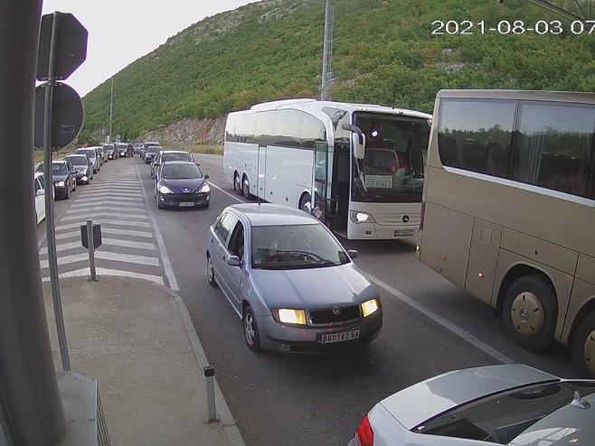 Granični prelaz Zupci - izlaz iz Srpske (foto: AMS RS) -