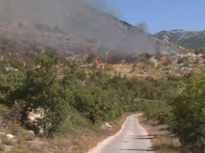 Ljubinje - požar - Foto: RTRS