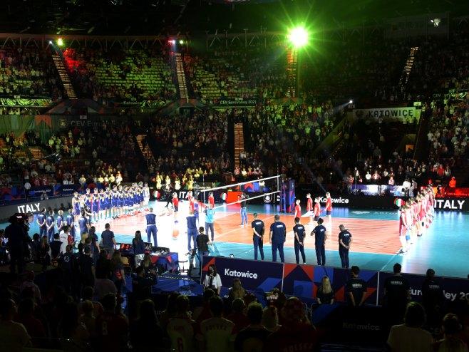 Србија - Италија (Фото: eurovolley.cev.eu)