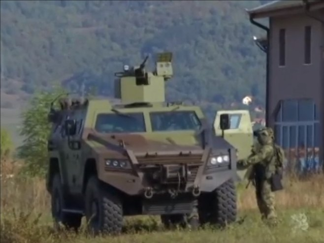 Oklopno vozilo Vojske Srbije - Foto: RTS